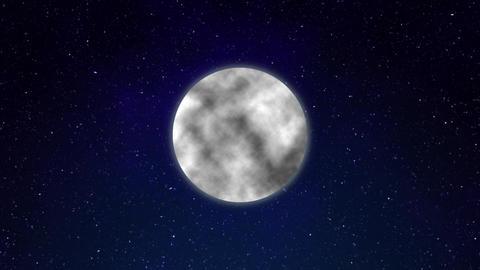 Full moon CG night sky Animation