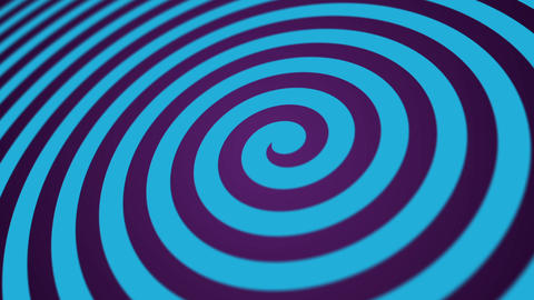 Hypnotic Blue Circus Spiral Motion Background Animation