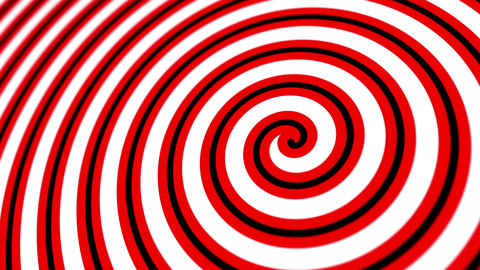 Hypnotic Vintage Circus Spiral Motion Background Animation