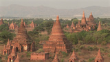 Ancient Buddhist Temples In Pagan Of Burma, Myanmar At Day stock footage