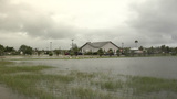 A Flooded Neighborhood After A Hurricane In Everglades City, Florida stock footage