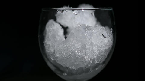 snow melts glass 01 Stock Video Footage