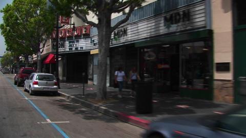 Tourists walk around Hollywood Stock Video Footage