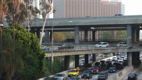 Traffic drives on the interstate Stock Video Footage