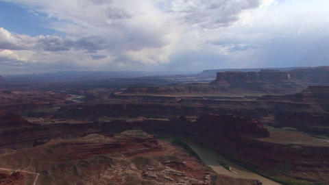 A valley of mesas at day in Canyonlands National Park in... Stock Video Footage