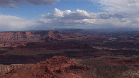 A valley of mesas at day in Canyonlands National Park in Utah Footage