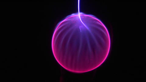 An energy sphere of light moves in circles Stock Video Footage