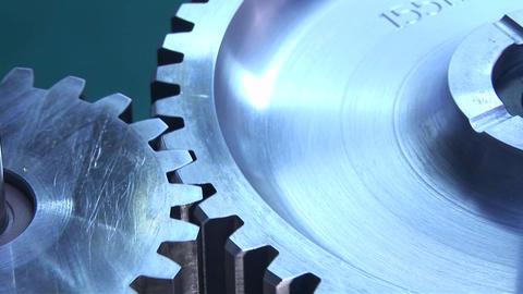 Mechanical gears rotate Footage