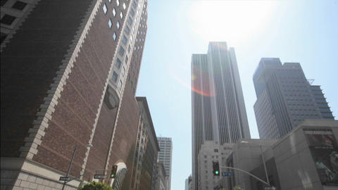 Skyscrapers fill a downtown area Stock Video Footage
