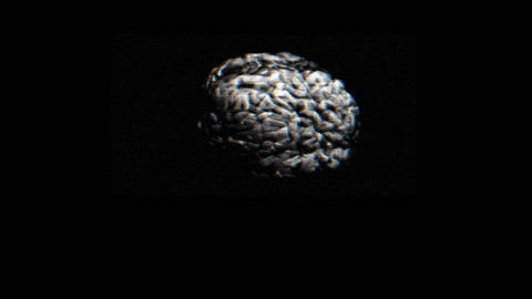A brain spins quickly in this animated sequence Stock Video Footage