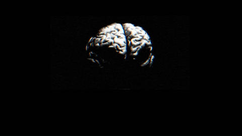 A brain spins quickly in this animated sequence Footage
