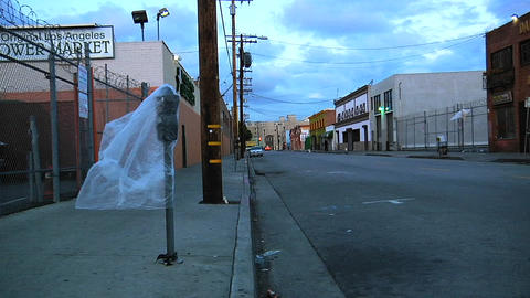 An empty street in Los Angeles Stock Video Footage