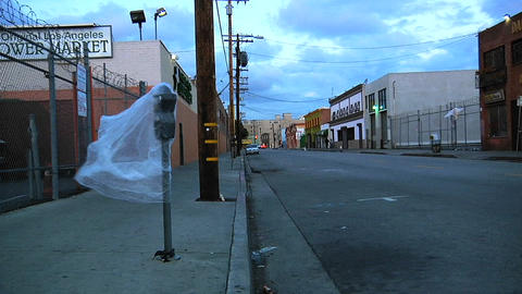 An empty street in Los Angeles Footage