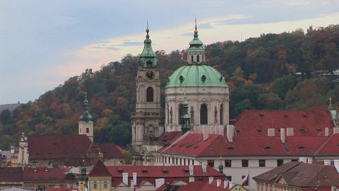 A view of Prague in the Czech Republic Stock Video Footage