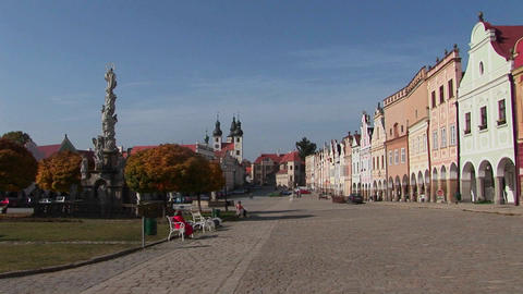 The charming town of Mikulov in the Czech Republic Stock Video Footage