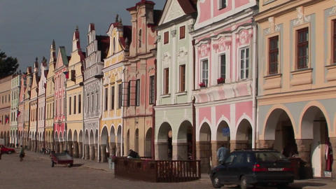 The charming town of Mikulov in the Czech Republic has elegant and beautiful facades Footage