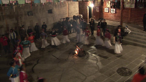 Native women perform a ceremonial dance in this shot from mainland China Footage