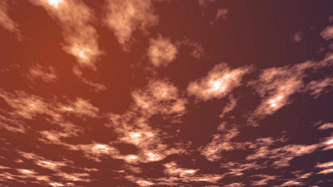 Clouds at dusk Stock Video Footage