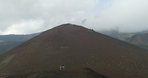Etna Lateral Crater Footage