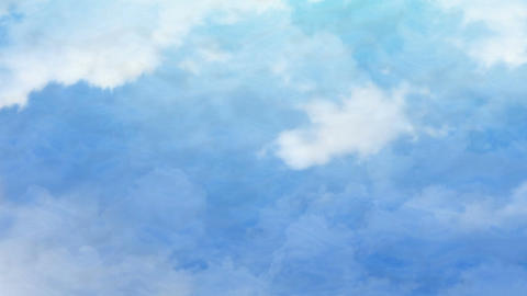 Fly Through Clouds Animation