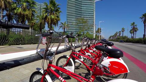 Biking Service On Hotel Shore Footage