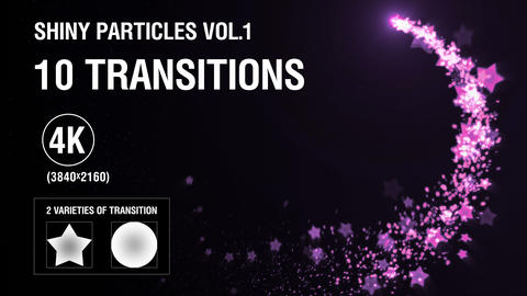 10-in-1 (4K) Shiny Particles Transition vol.1 - romantic Animation