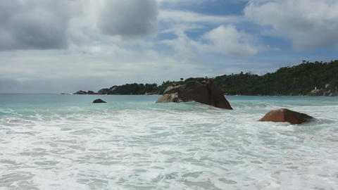 Waves at Anse Lazio, Seychelles Live Action