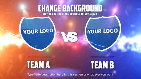 Team A VS Team B After Effects Template