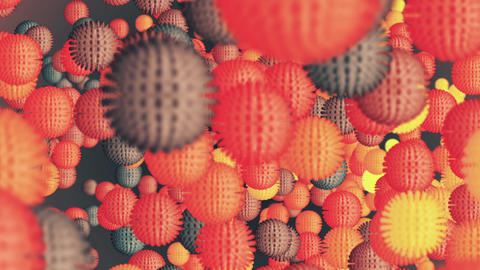 Abstract Multi-coloured Cells Animation Animation