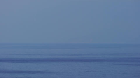 Blue sky and blue water in the horizon Live Action