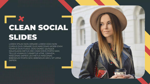 Clean Social Slides After Effects Template