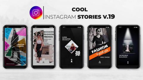 Cool Instagram Stories v 19 After Effects Template
