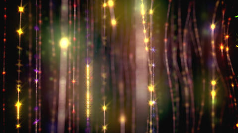 Movement through the bright sparkling garlands loop Animation