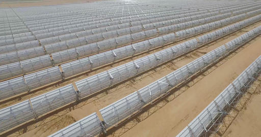 Drone shot of Solar Panels farm. Solar Panels Aerial Flight Renewable Energy Live Action