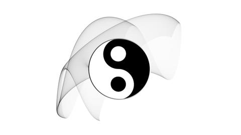 Ying yang symbol of harmony and balance Animation