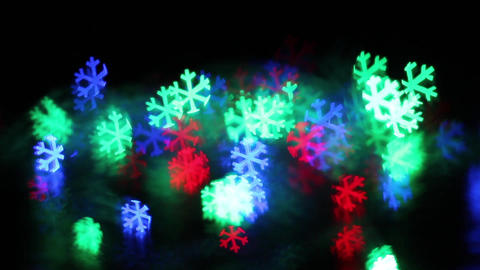 Color snowflake bokeh 影片素材
