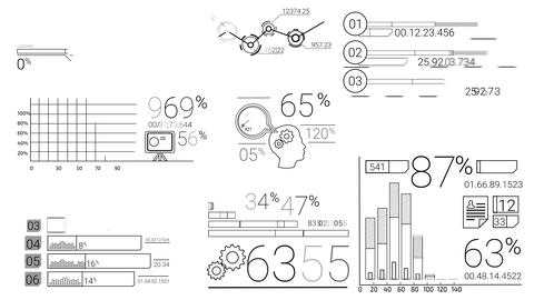 Infographic Elements In The Line Style Animation