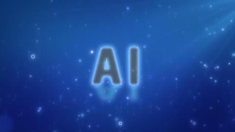 SHA AI Image BG Blue CG動画
