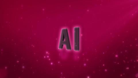 SHA AI Image BG Pink Stock Video Footage