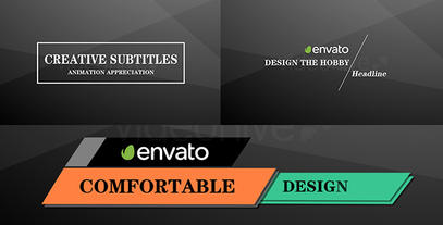 Creative subtitles After Effects Templates