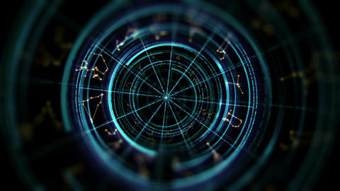 Astrology and alchemy sign background loop footage CG動画素材