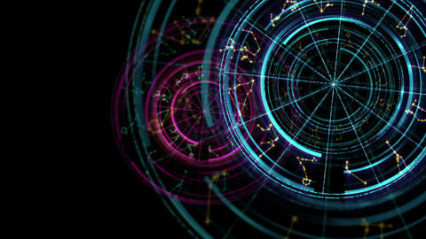 Astrology and alchemy sign background loop footage Animation