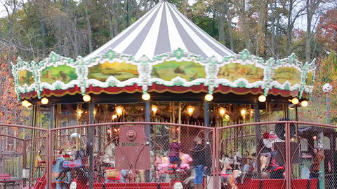 Carousel Merry-Go-Round Footage