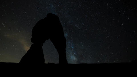 Arches National Park with Milky Way Live Action