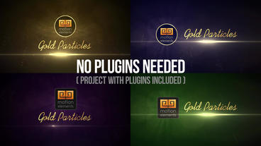 Gold Particles Logo Reveals After Effects Project
