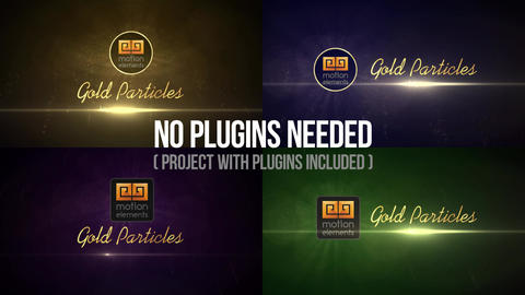 Gold Particles Logo Reveals After Effects Template