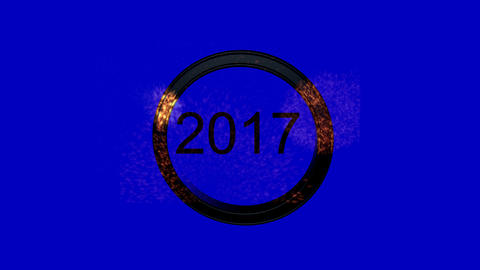 New Year's Eve Countdown features flashing strobe text and exploding fireworks Animation