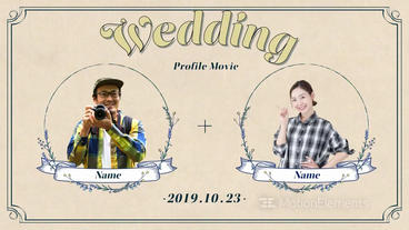 8 min Profile Movie Wedding After Effectsテンプレート