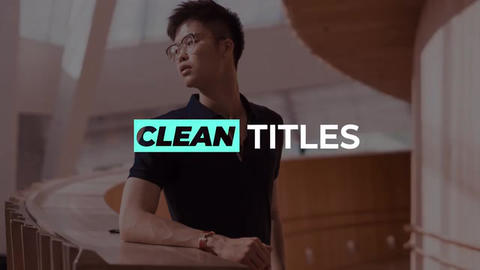 Clean-titles After Effects Template