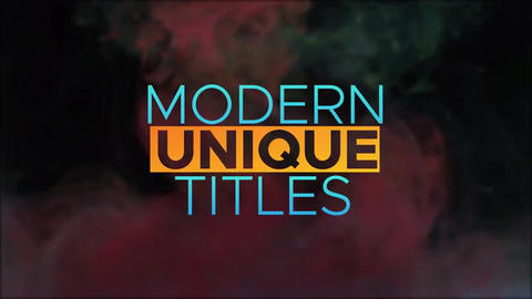 Colorful-big-titles After Effects Template